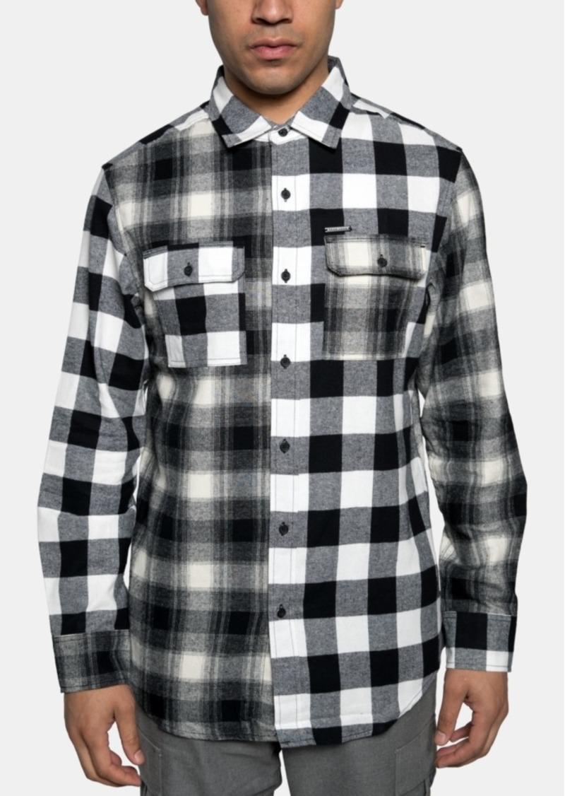Sean John Men's Pattern Blocked Shirt