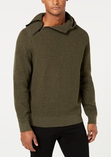 Sean John Men's Pebble Knit Hooded Sweater