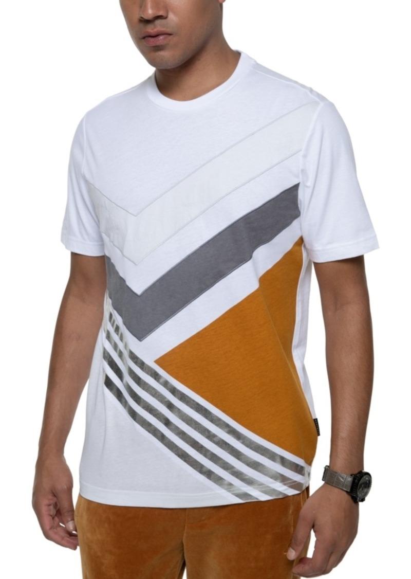 Sean John Men's Pieced Geometric T-Shirt