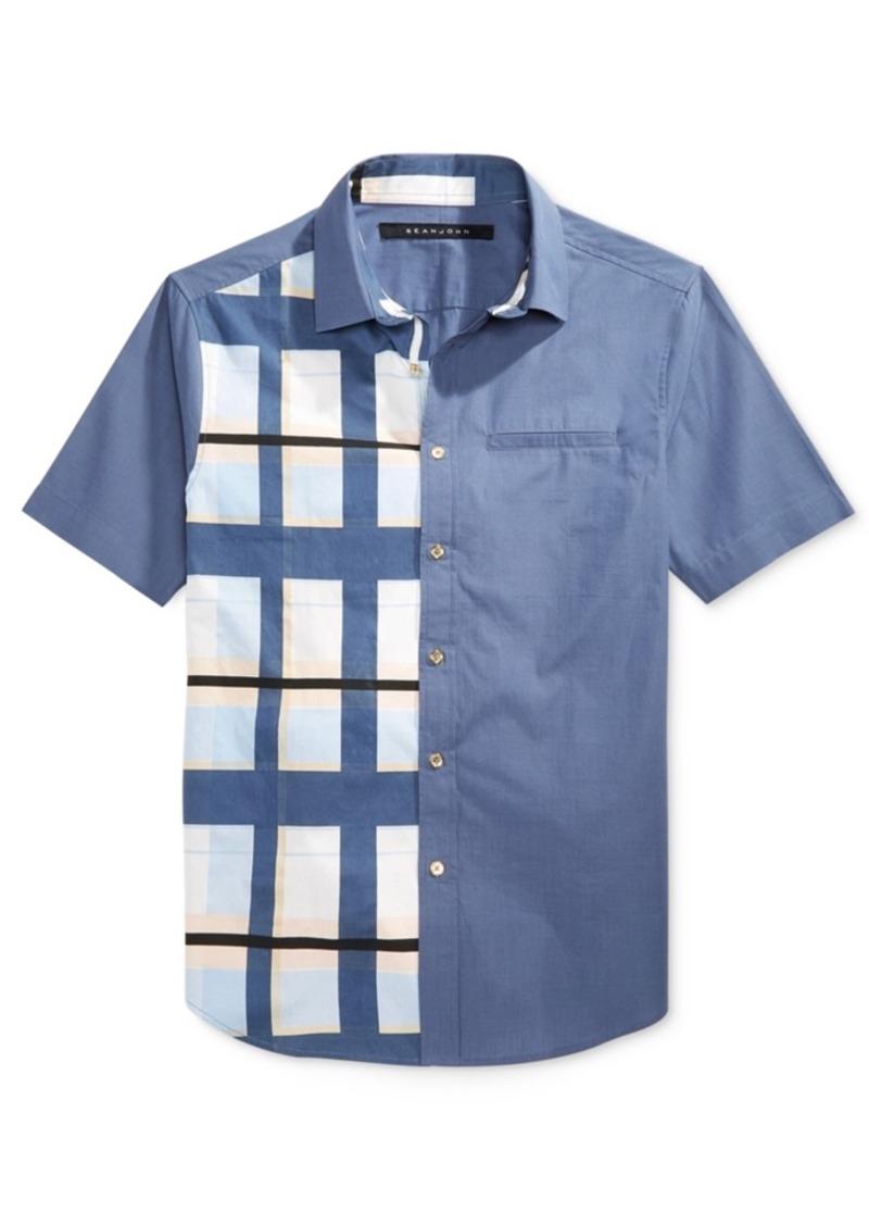 Sean john sean john men 39 s plaid cotton shirt created for for Sean john t shirts for mens