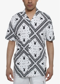 Sean John Men's Playboy Bunny Camp Shirt