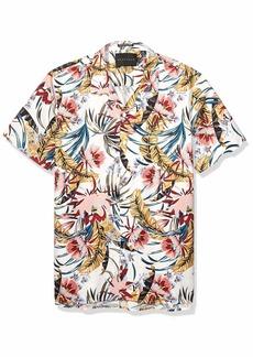 Sean John Men's Printed Button Down Shirt  L
