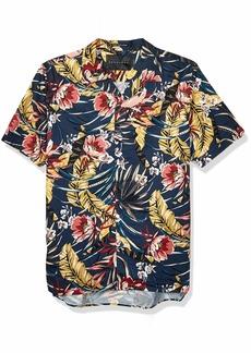 Sean John Men's Printed Button Down Shirt  M