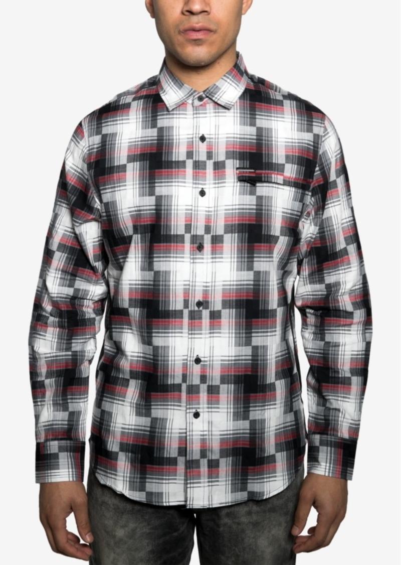 Sean John Men's Regular-Fit Broken Plaid Shirt