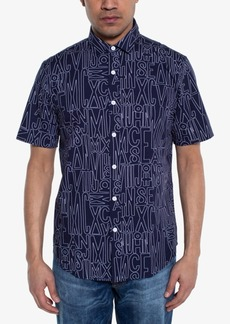 Sean John Men's Regular-Fit Logo-Print Shirt