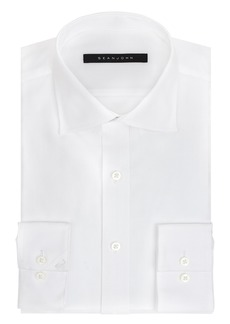 "Sean John Men's Regular Fit Solid Spread Collar Dress Shirt  "" Neck 32""-33"" Sleeve"
