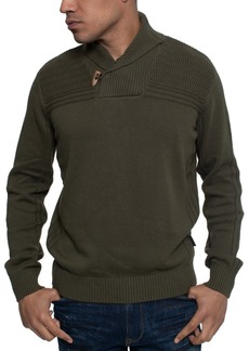 Sean John Men's Ribbed Shawl Collar Sweater