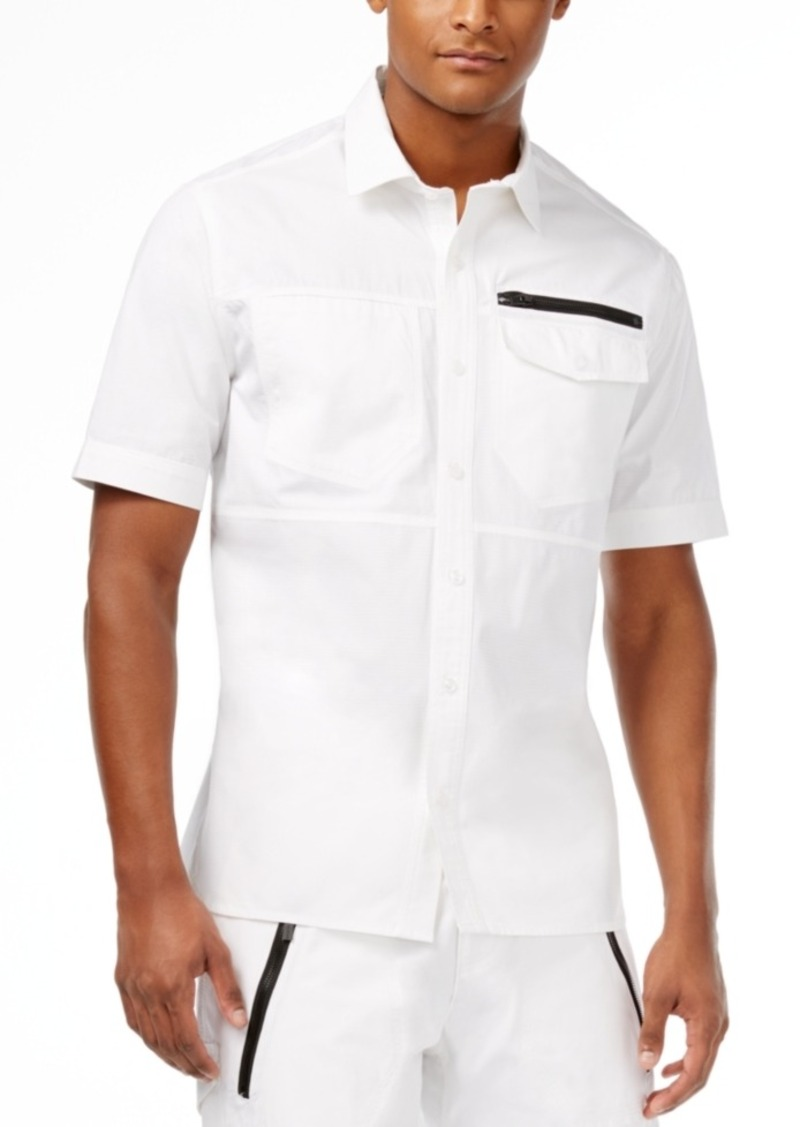 Sean John Men's Ripstop Short-Sleeve Flight Shirt
