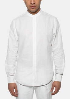 Sean John Men's Santorini Regular-Fit Band-Collar Shirt