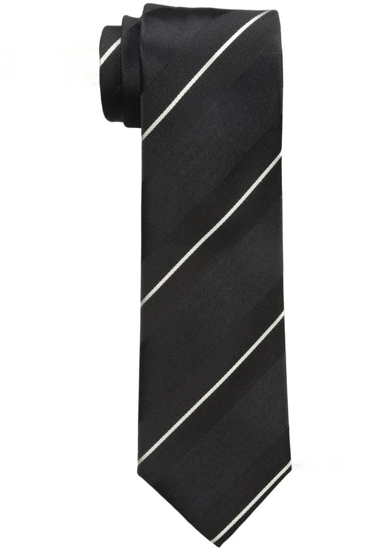 Sean John Men's Satin Stripe Tie black