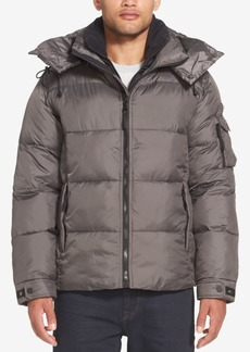 Sean John Men's Shiny Hooded Puffer Jacket