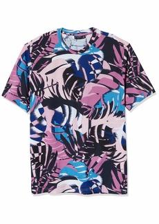 Sean John Men's Short Sleeve Crew Neck Tropical Print Tee  3XL