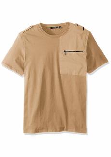 Sean John Men's Short Sleeve Flight Knit Shirt  3XL