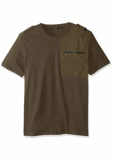 Sean John Men's Short Sleeve Flight Knit Shirt  S