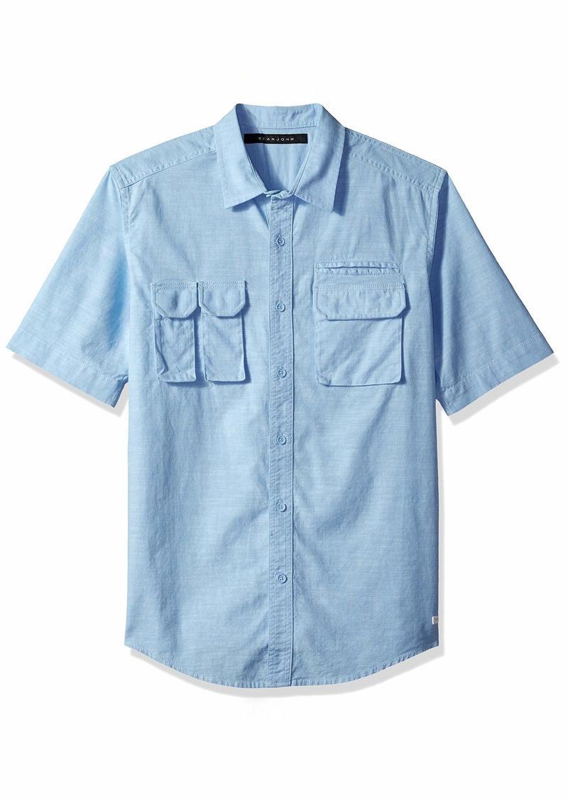 Sean John Men's Short Sleeve Flight Shirt  L