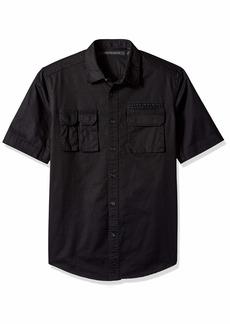 Sean John Men's Short Sleeve Flight Shirt pm Black L