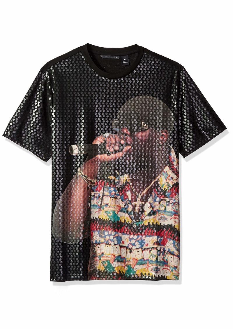 Sean John Men's Short Sleeve Graphic Tee pm Black M