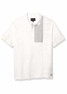 Sean John Men's Short Sleeve Polo White L