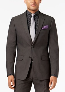 Sean John Men's Slim-Fit Stretch Black/White Neat Suit Jacket
