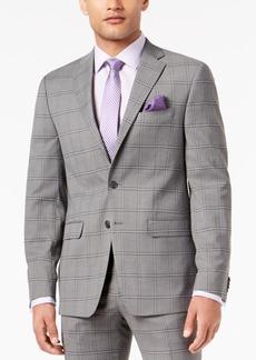 Sean John Men's Slim-Fit Stretch Black/White Windowpane Suit Jacket