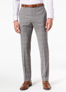 Sean John Men's Slim-Fit Stretch Black/White Windowpane Suit Pants
