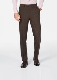 Sean John Men's Slim-Fit Stretch Brown Herringbone Suit Pants