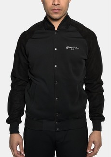 Sean John Men's Snap-Front Bomber Jacket
