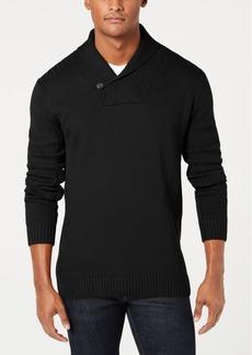 Sean John Men's Solid Shawl Collar Sweater