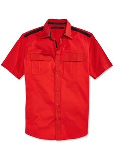 Sean John Men's Solid Twill Short-Sleeve Shirt, Only at Macy's