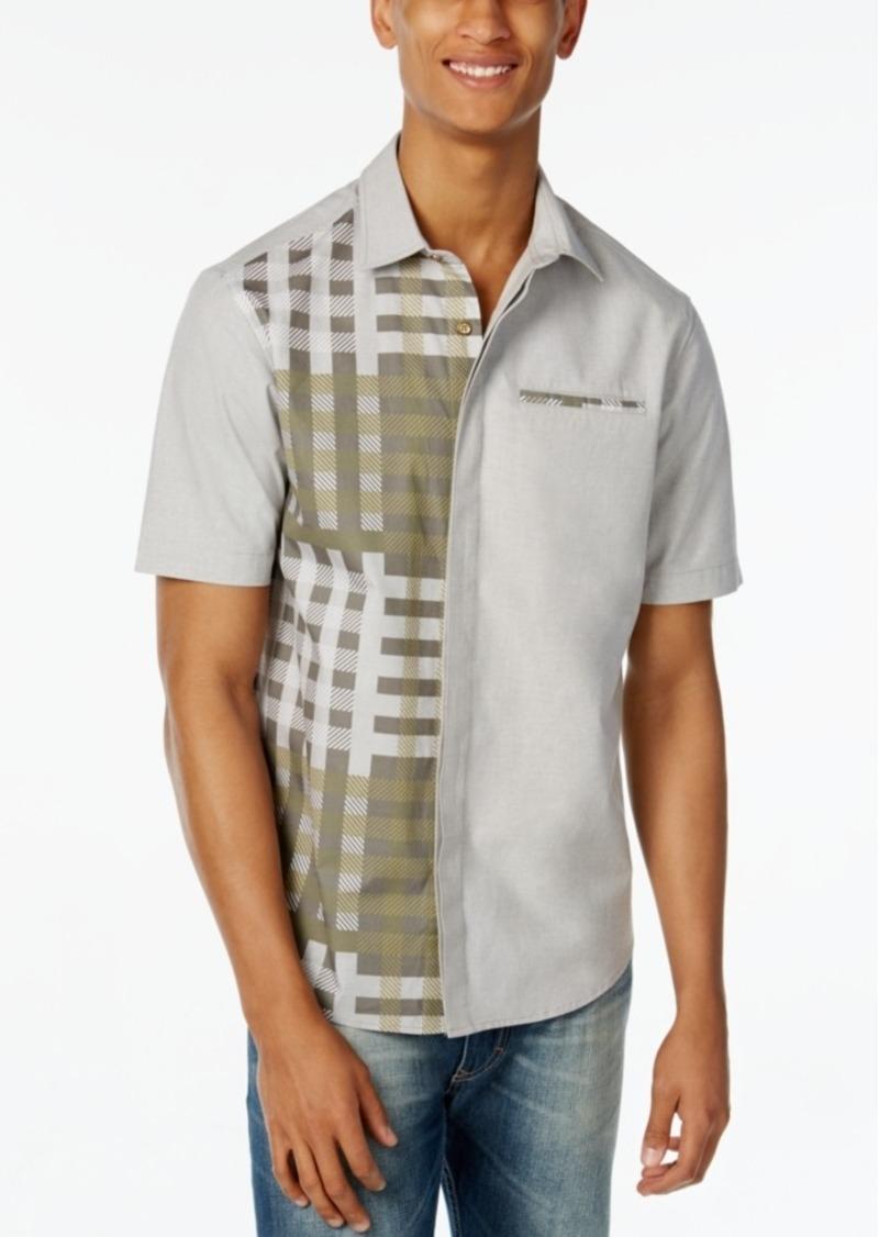 Sean John Men's Spliced Woven Shirt