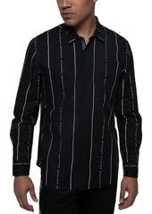 Sean John Men's Striped Logo Shirt