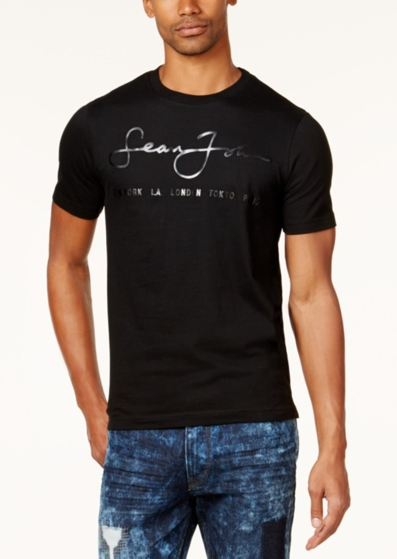 sean john sean john men 39 s script logo t shirt created for