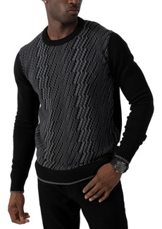 Sean John Men's Textured Knit Sweater