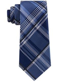 Sean John Men's Textured Plaid Silk Tie