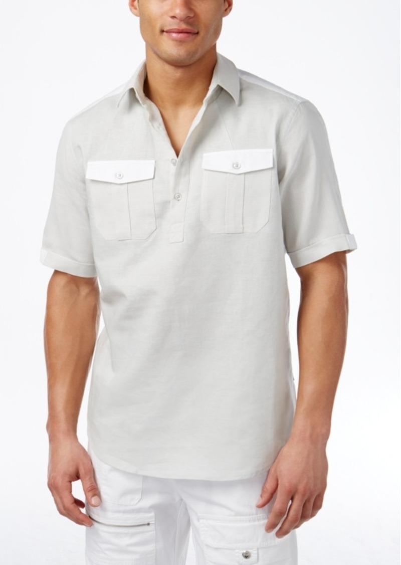 Sean John Men's Textured Popover Shirt