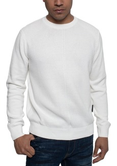Sean John Men's Tri-Pattern Knit Sweater