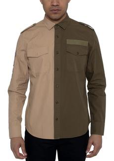 Sean John Men's Two-Tone Twill Shirt