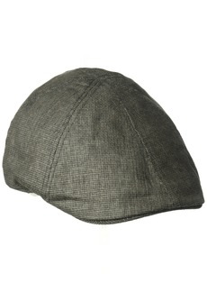 Sean John Men's Vc 6 Panel Striped Flat Cap Ivy  M/L