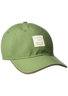 Sean John Men's Waxed Cotton Baseball Cap Front Logo Adjustable Green