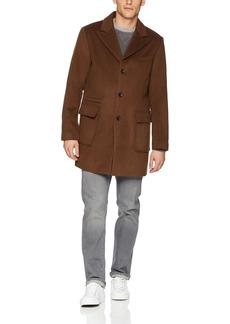 Sean John Men's Wool Coat with Peak Lapel