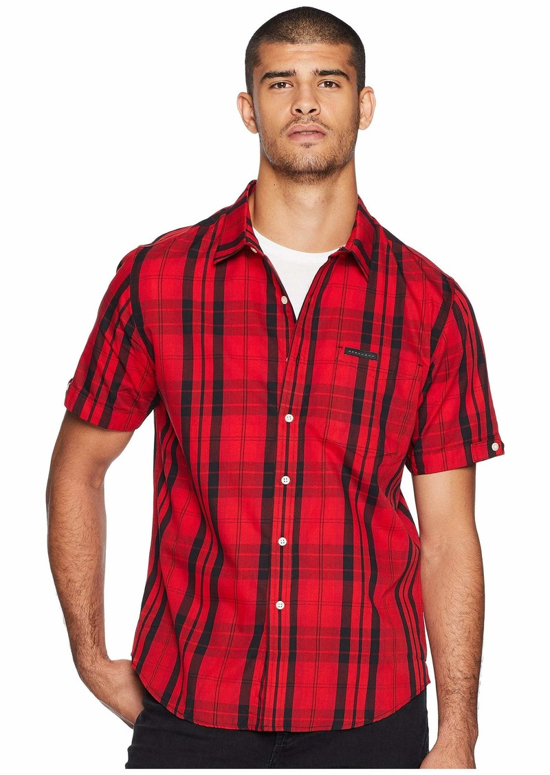 Sean John Short Sleeve Plaid Shirt