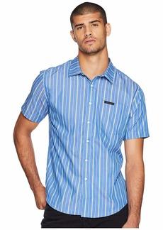 Sean John Short Sleeve Yarn-Dye Stripe Shirt