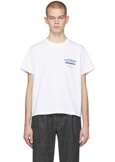 Second/Layer White EBM Lock Up T-Shirt