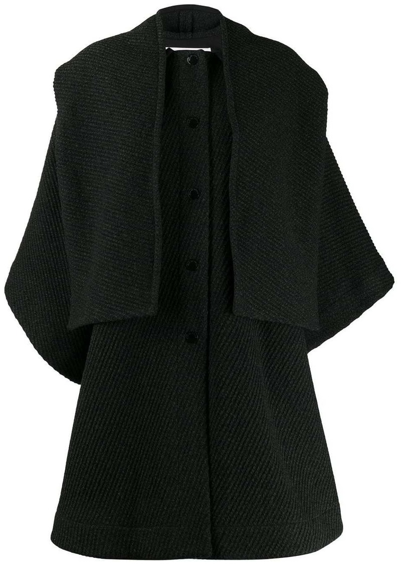 See by Chloé textured cape coat
