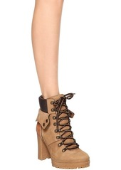 See by Chloé 100mm Suede Lace-up Hiking Boots