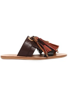 See by Chloé 10mm Tassels Leather Slide Sandals