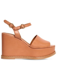 See by Chloé 110mm Carrie Leather Wedges