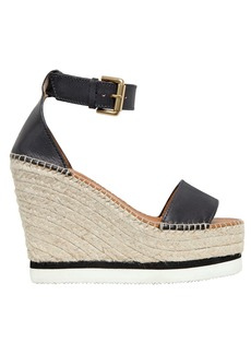 See by Chloé 120mm Leather Wedge Sandals