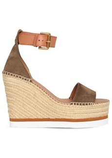 See by Chloé 120mm Suede Espadrille Sandals