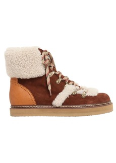 See by Chloé 20mm Suede & Shearling Boots